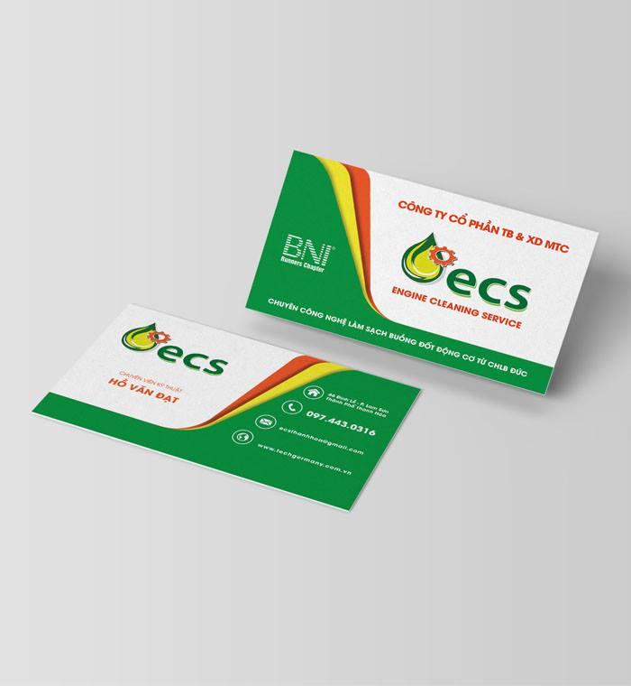 Name card Cong ty cổ phần tb xd