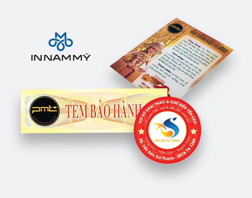Báo giá in tem bảo hành tại Thanh Hóa chất lượng, giá cạnh tranh nhất.