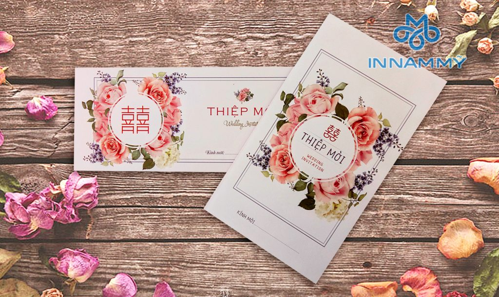 Thiệp mẫu hoa hồng 2018 - In Nam Mỹ