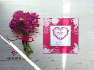 thiệp cưới hồng
