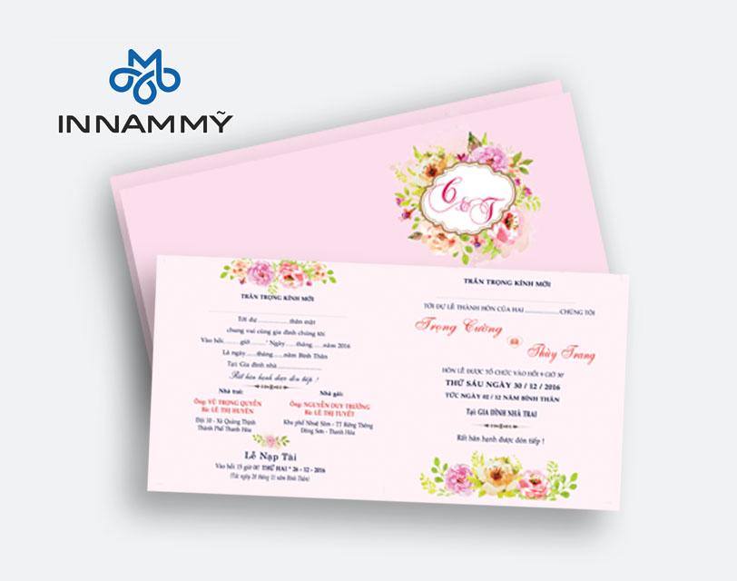 In thiệp cưới tại Thanh Hóa.