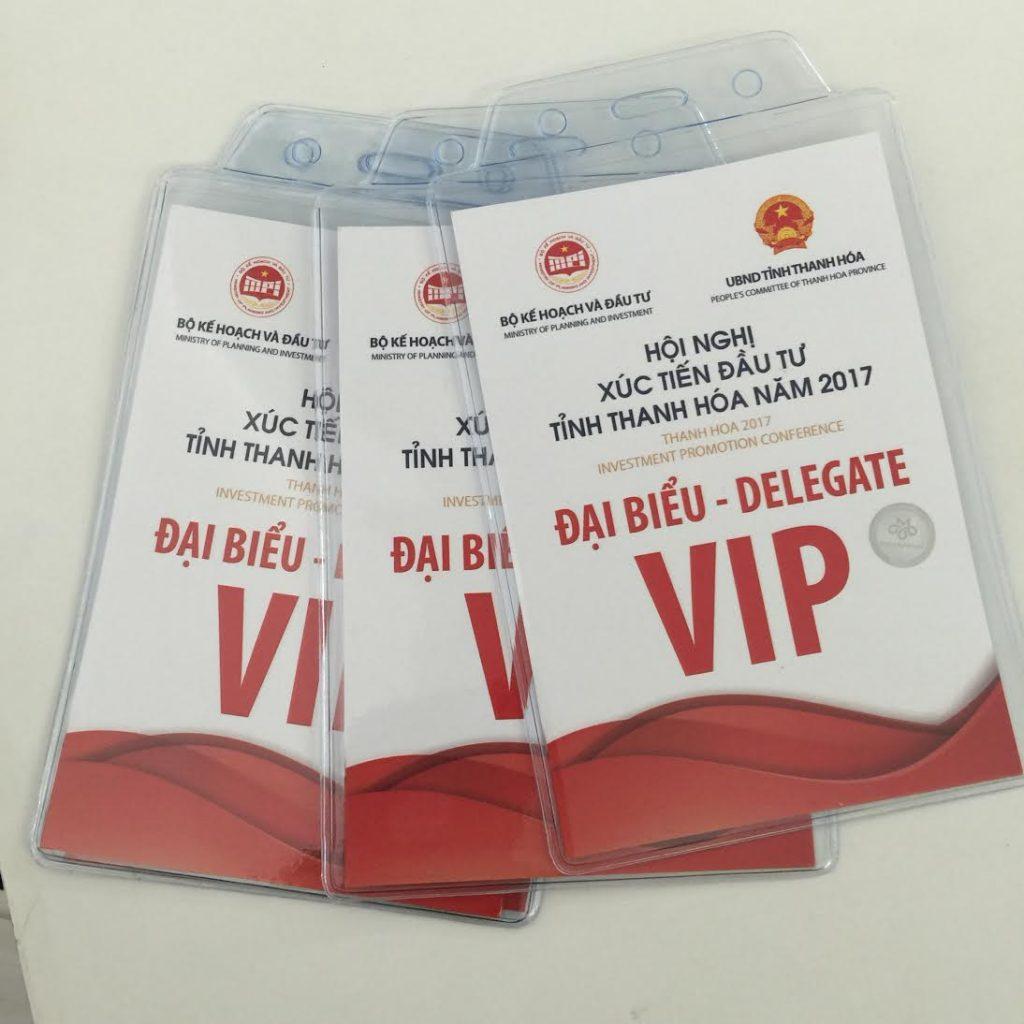 In thẻ đại biểu đại hội hội nghị tại Thanh Hóa.