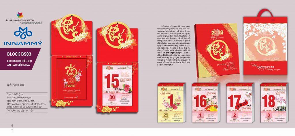mẫu lịch tết và túi giấy quà tết 2018
