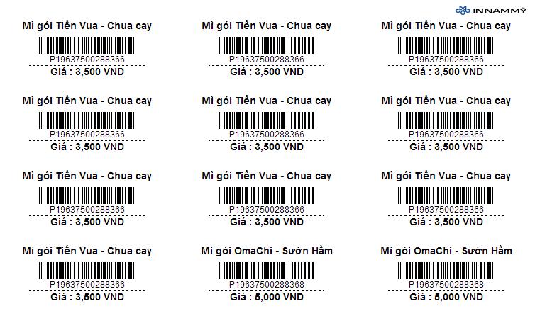 In tem mã vạch giá rẻ tại Thanh Hóa